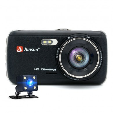 Junsun 4 Inch Full HD 1296P ADAS Dual Lens IPS Video Recorder Night Vision Car DVR Camera
