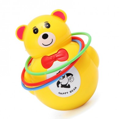 Music Light Animal Bear Tumbler Musical Toy for Baby Kids Gift Toy