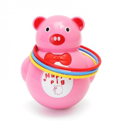 Música Light Animal Pig Tumbler Musical Toy para Baby Kids Gift Toy