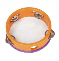 IRIN 6 Pouce Orff Instrument de musique Bois Main Tambourin Main Bell Tambour Percussion Jouets