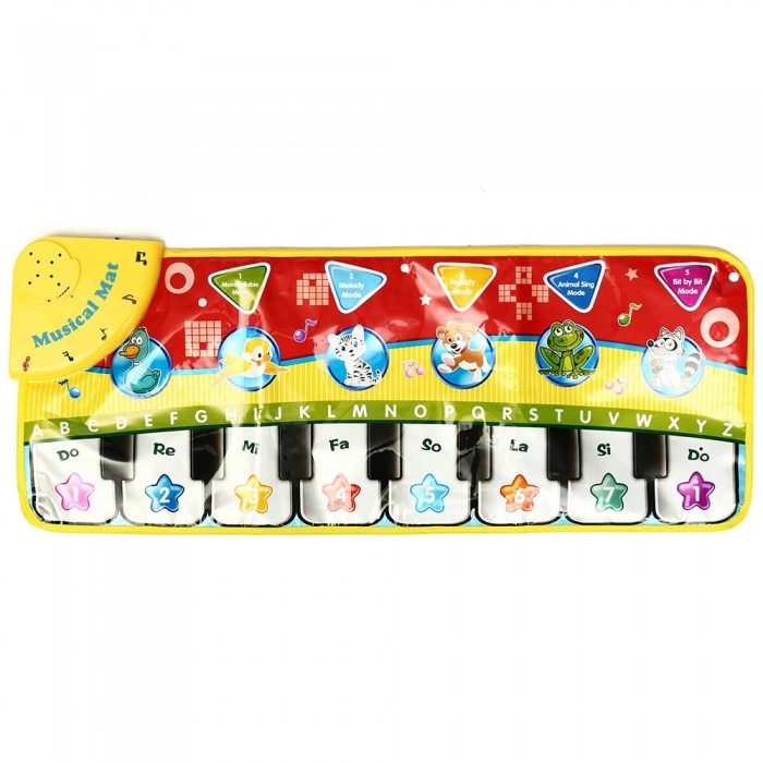 5 Modos Musical Kid Piano Toddler Juego Mat Animal Baby Juguetes educativos