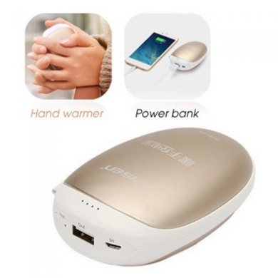 PISEN TS-D154 5000mAh Portable Hand Warmer Power Bank