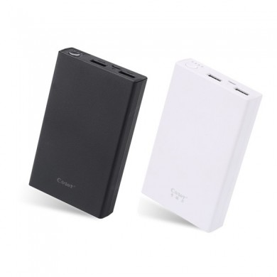 Cager B20 12500mAh Dual USB Ports DC5V 2.1A Power Bank for Xiaomi Samsung Huawei