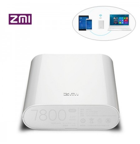 Original Xiaomi ZMI MF855 7800mAh 120 Mbps 3G 4G Wireless WiFi Router Energien Bank