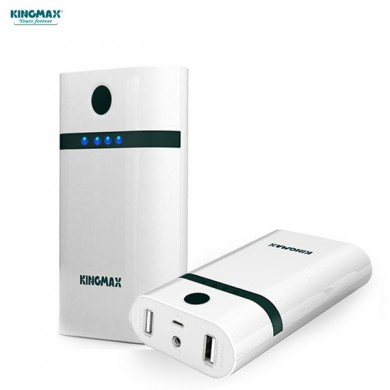 Kingmax KEBG-002 6600mAh Dual Output Ports Power Bank for Samsung iPhone Xiaomi