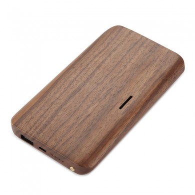 10000mAh Wood DC 5V 2A Holder Power Bank for iPhone Samsung Xiaomi