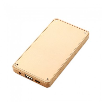 4000mAh Slim Wood Portable Power Bank Backup Battery for Samsung Xiaomi iPhone