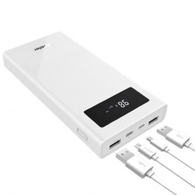 Besiter 20000mAh QC3.0 Quick Charge Dual USB LED Display Power Bank with Type-C and Micro Input