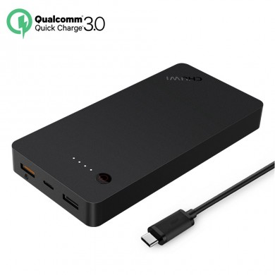 CHUWI Q2Power 20000mAh 3 Ports Quick Charge QC3.0 Type C Power Bank for Xiaomi 6 Samsung S8 iPhone 7