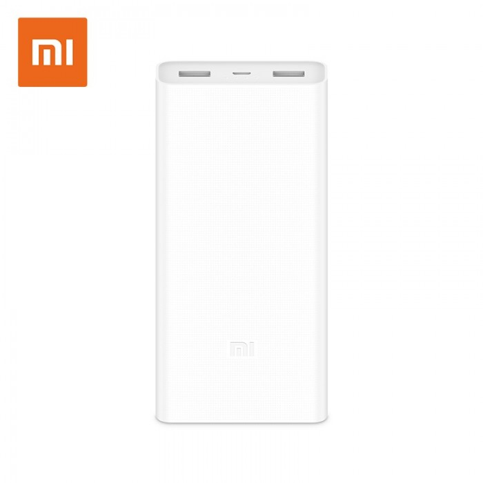 Original Xiaomi 2C 20000mAh Polymer Power Bank 2 Dual USB Output with Quick Charge 3.0