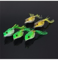 ZANLURE 5Pcs 6CM Large Frog Topwater Fishing Lure Crankbaits Hooks Bass Bait Tackle