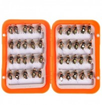 LEO 40pcs/lot Fly Fishing Lure Set Artificial Bait For Pesca Fish Fishing Hooks Tackle With Box