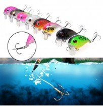 ZANLURE 1pc 5cm 8g Wobbler Fat Crankbait Fishing Lure Artificial Bass Hard Bait Fishing Tackle