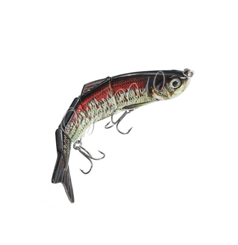 ZANLURE Multi Jointed Fishing Lure Bass Bait Jerk Lifelike 4Sections Swimbait (Size: 2) фото