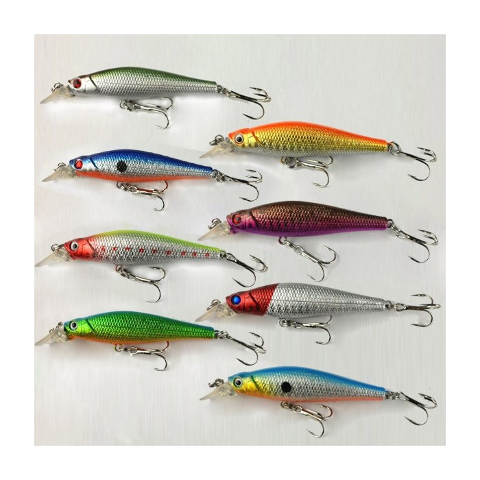 Minnow Real Life-Like Fishing Lure Multi-colors Floating Lures Baits