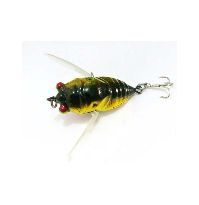 Cicada 6g Perch Insect Lure Bait Fishing Lifelike Bait with Hooks фото