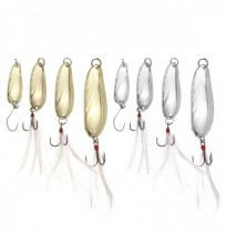ZANLURE 10pcs Pesca Paillette isca isca Sequins pesca atração Treble Feather Hook