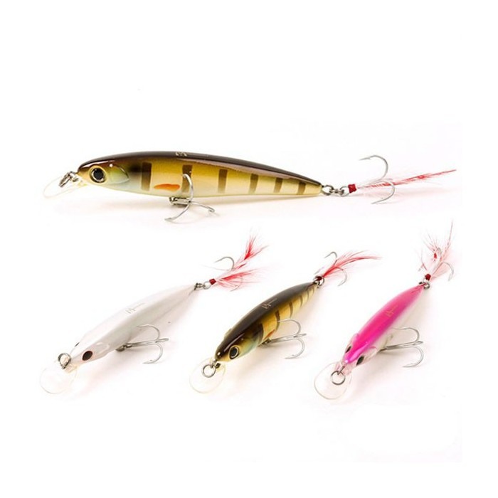 Maxcatch 9.5cm 11.5g Minnow Bass Fishing Lures Crankbaits with Feather