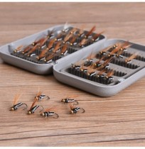 ZANLURE 40Pcs Boxed colorato Bionic Fly Fishing Lure Hook Bionic Set Anti Insetti Flies ABS Box