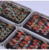 ZANLURE 40Pcs Boxed Colorful Bionic Fly Fishing Hook Bionic Lure Set Anti Insects Flies ABS Box