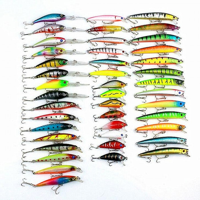 ZANLURE 43 PCS 320g Iscas Minnow Iscas De Pesca Spinning River Sea Lakes Iscas