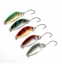 ZANLURE 5PCS 3G 30CM Spinner Spoon Pêche Lure Metal Lures Colorful Hard Baits