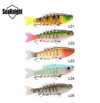 Bait SeaKnight SK001 1PCS hard Fishing Lure 80MM 19G Sinking Swimbait 7 sezioni snodato