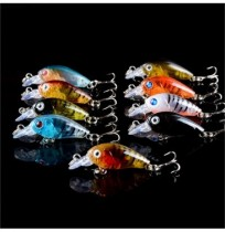 ZANLURE 109 pcs/ set Lot Wobbler Minnow Bass Fishing Lures Crankbaits Tackle Steel Hooks
