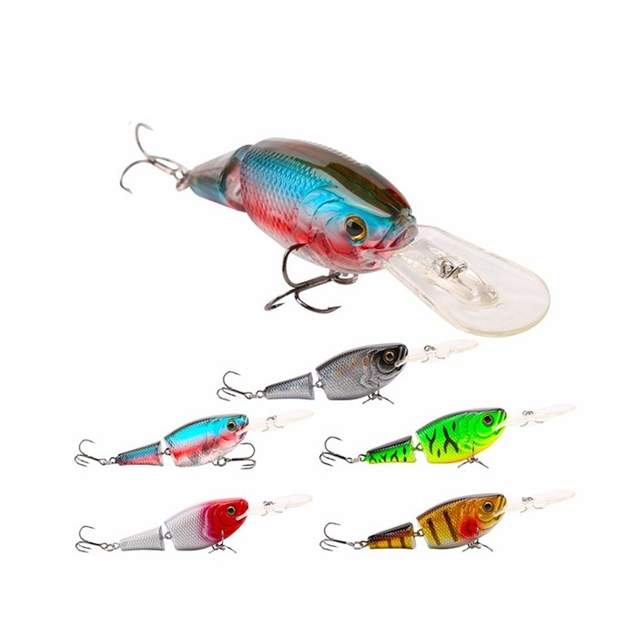 SeaKnight SK028 1PC 13.5g 70mm Fishing Lure Crankbait 2 sections 3D Les yeux Hard Fisher Is