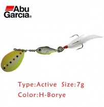 Original Abu Garcia H-borye 7g 12g Spoon Fishing Lure Spinner Bait com Treble Gancho e Feather