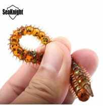 SeaKnight SL009 8pcs / bag 3.6g 130mm / 5.1in Silicone Soft Luminosité de pêche Lombric Centipede Worm Lure