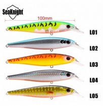 SeaKnight SK038 5pcs 17.3g 100mm 0-1.2M Suspensão Minnow Fishing Lure Hard Bait Fishing VMC Ganchos