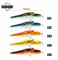SeaKnight SL037 5pcs / lot 10.2g 78mm 0-1.0M Minnow Hard Bait VMC accroche un attrait de pêche flottant