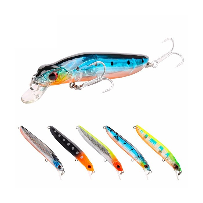 SeaKnight SL036 5pcs / lot 8.5g 90mm 0-1.0M Minnow Fishing Lure Hard Artificial Bait Lating Flutuante