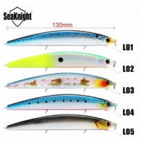 SeaKnight SK033 5pcs / lot 19g 130mm 0-1.5M Minnow Fishing Lure Hard Bait Avec VMC Crochets 3D Les yeux