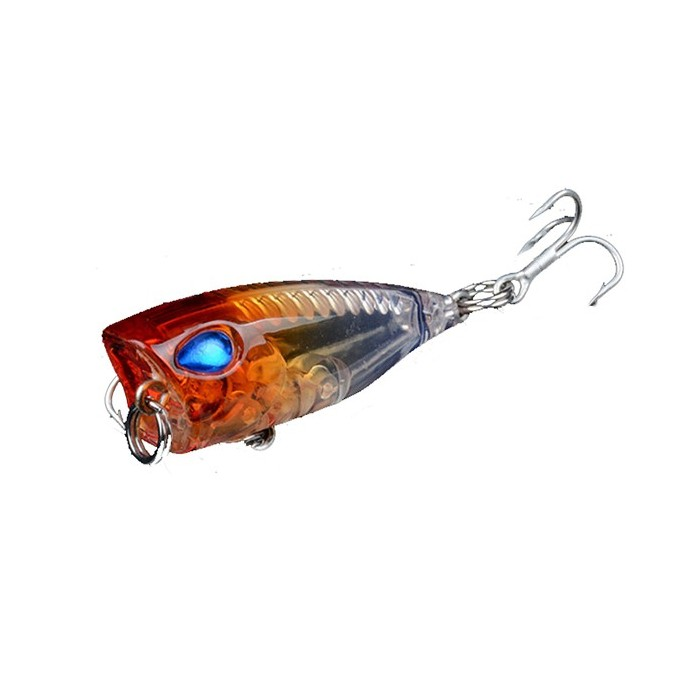 1pc 4cm 3.6g Popper Fishing Lure Lifelike 3D Eyes BKK Gancho Hard Bait Fishing