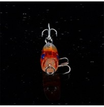 1pc 4cm 3.6g Popper Fishing Lure Lifelike 3D Eyes BKK Hook Hard Bait Fishing