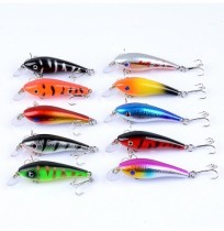 ZANLURE 10pcs/set 5.7cm 4.4g Minnow Fishing Lure 0.3m--1.2m Depth Artificial Hard Bait Wobbler Carp