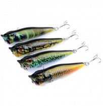 ZANLURE 4pcs/set 9.5cm 12g Fishing Lure Topwater Popper Wobblers Crankbaits Artificial Hard Baits