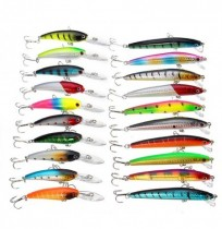 ZANLURE 20pcs 9cm/9.65cm 8.3g/7.7g Minnow Fishing Lure 1.2-2.1m Depth Sea Fishing Hard Baits