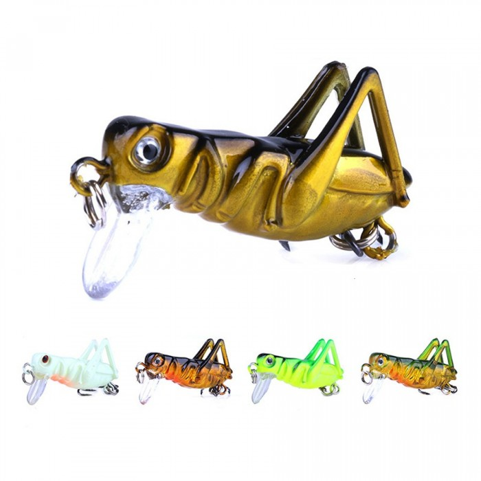 KC005-X 5Pcs / Set 3.5cm 3g Cricket Lure Insect Bait pesca Señuelo cebo duro Isca Artificial Lure