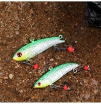 ZANLURE 5pcs/set 35g 5.5cm Winter Ice Fishing Lure 3D Eyes Carp Fly Hard Bait Lure