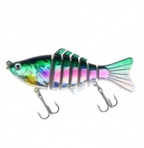 ZANLURE XY-238 5pcs / set 15.6g 10cm 7 Section Swimbait Dur Leurre de Pêche Isca Leurres Artificiels