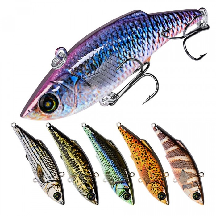 ZANLURE DW1122 10Pcs/Set 7.9cm 10.5G VIB Fishing Lure Artificial Hard Baits Crankbait Pesca