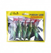 ZANLURE 5pcs/set 10cm 20g Soft Plastic Fishing Lure Swimbait Wobbler Artificial Bait Fishing Tackle
