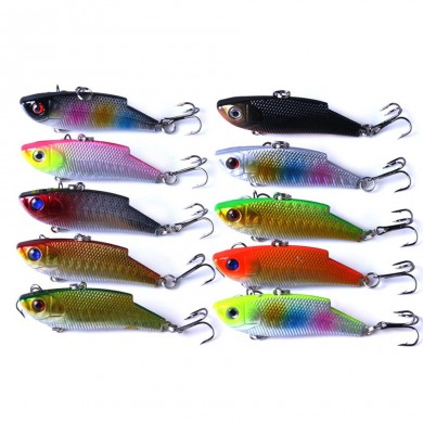 ZANLURE 10pcs/set 5.5cm 10g VIB Crankbait Lifelike Fishing Lure Slow Sinking Hard Fish Wobbler Baits