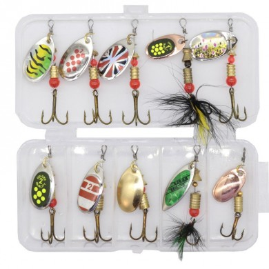 ZANLURE 10 Pcs Fishing Lure Spinner Bait Japanese Fishing Bait Camping Fishing Hunting Accessories