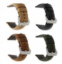 22mm PU Leather Matte Horse Texture Watch Strap Band For Samsung Gear S3 Classic/Frontier