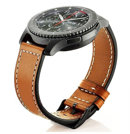 22mm Genuine Leather Watch Strap Band For Samsung Glaxy Gear S3 Frontier