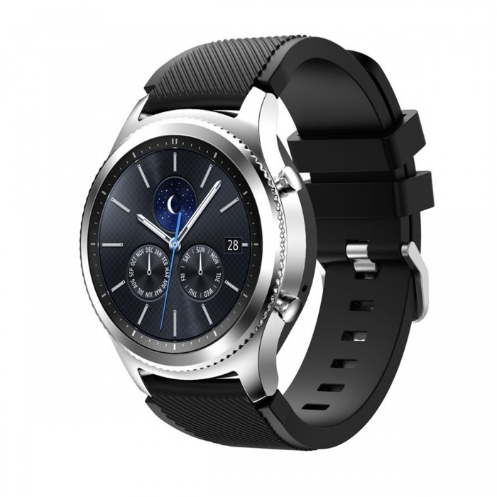 Silicone Montre Bande Dragonne Pour Samsung Galaxy Gear S3 Frontier / Classic